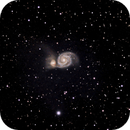 First attempt at M51 (Whirlpool Galaxy) and NGC5195.,                                Gowri Visweswaran