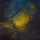 SH2-86 Cloud Sculpting Star Cluster (NGC6820-3) in HSTrgb,                                Jose Carballada