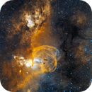 NGC 3590 the same region as my previous one but in HSO, the hand...,                                Claudio Tenreiro