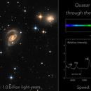 Quasar Markarian 205 peeks through the spiral arms of NGC 4319,                                Howard Trottier
