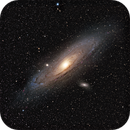 M31 - Andromeda Galaxy LRGB/Ha combine,                                Gordon Haynes