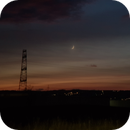Moon at sunset with clouds,                                nonsens2