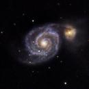 M51 - Whirlpool Galaxy - 20210505 - Celestron C6 at F4.6,                                altazastro