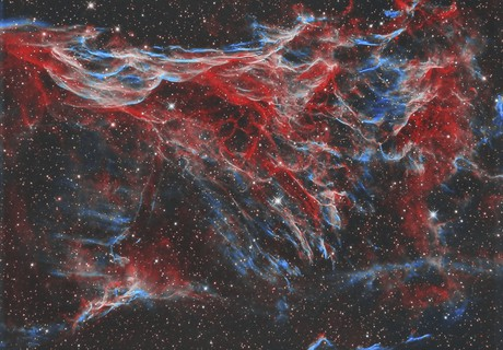 Pickering's triangle in the Veil nebula - bi-colour - sometimes referred to as NGC 6979,                    Simon