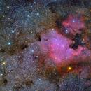 NGC7000 Nébuleuse Nord America - IC5070 Nébuleuse du Pelican  Wide Field,                                Séb GOZE