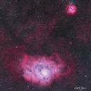 M8 Lagoon Nebula and M20 Trifid Nebula,                                Carl Weber