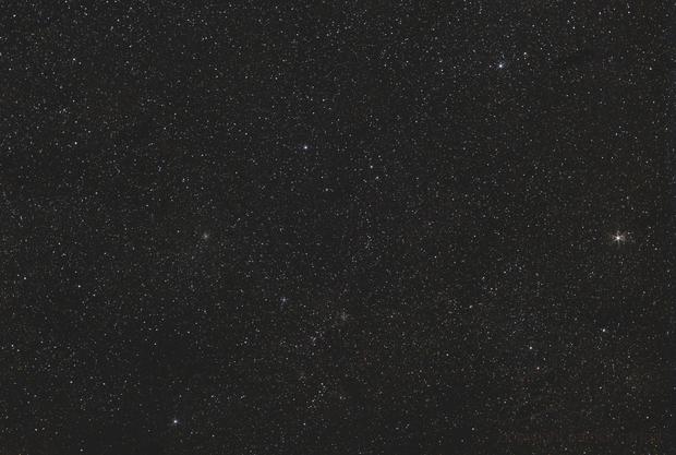 "Auriga under full moon  Pentax K30D modded + 50mm f/1.7 open f/5.6 / 60x60"" / ISO 400 /Nanotracker,                                patrick cartou"