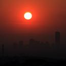 Sunrise behind the skyline of vienna,                                nonsens2