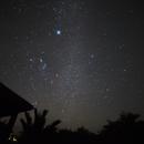 Night sky with Orion constellation,                                KiwiAstro