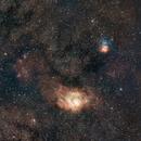 Centro Galactico, Laguna y Trifida,                                Astrofotografia A.R.B.