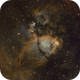 Cas Impression - Part of The Heart - The Fishhead Nebula in SHO,                                G400