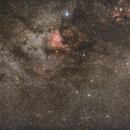 Milky-Way, Nordamerika-Nebel NGC 7000 und Pelikan-Nebel IC 5070 Neubearbeitung 2,                                Matthias Groß