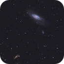M106 and friends in a Bortle 7 - cropped,                                Daniel Hightower
