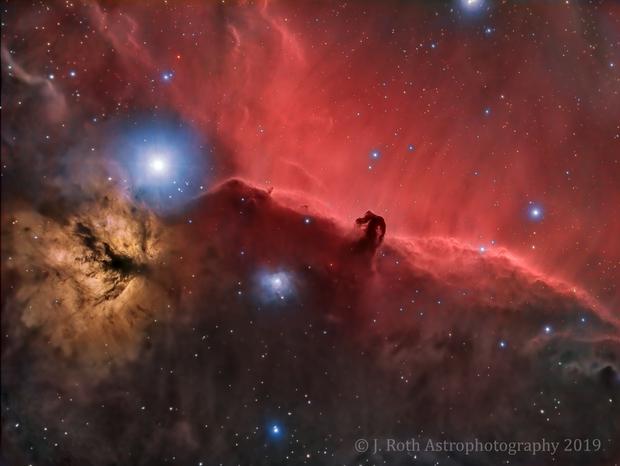 IC 434 - The Horsehead Nebula in HaRGB - Bortle 9 - Tampa, FL,                                Jeremiah Roth