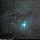 IC4604, Rho Ophiuchi, LRGB, 12-15 June 2018,                                  David Dearden