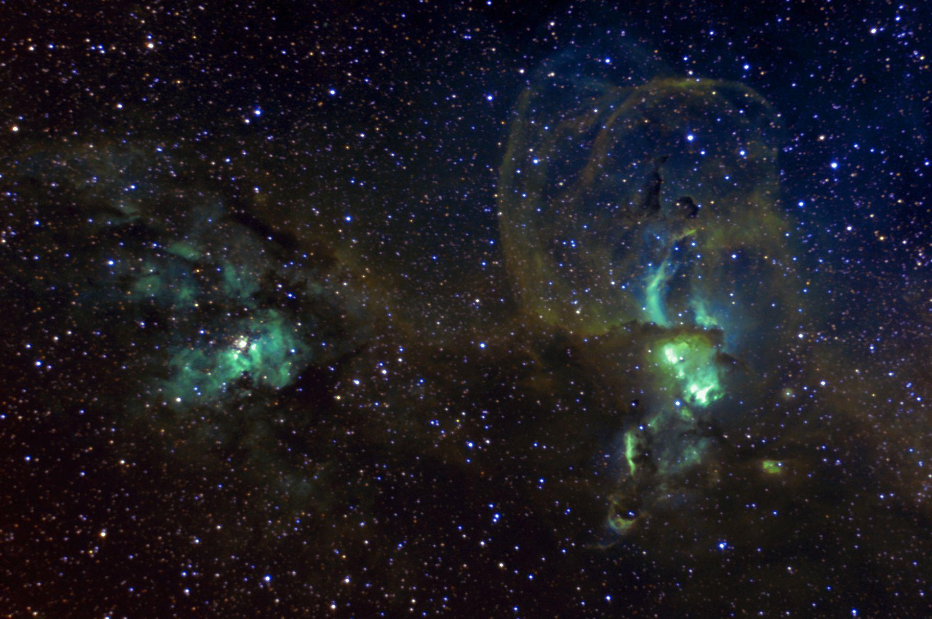 NGC 3576 - Statue of Liberty Nebula,                                Paul Wilcox (UniversalVoyeur)