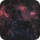 Interesting field of nebulas in the Large Magellanic Cloud.,                                flyingairedale
