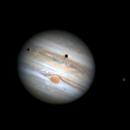 Jovian Satellite Double Transit,                                astromaverick