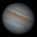 Jupiter and the emerging Io animation from 29.06.2021,                                Khisamutdinov Maksim