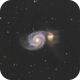 M51 - Whirlpool Galaxy,                                Job Bacon