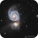 M51 Whirlpool Galaxy in L(R+HA)GB,                                Kayron Mercieca
