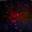 ngc6357 nebulosa nello scorpione impronta di gatto                      distanza 5.600    A.L.,                                Carlo Colombo
