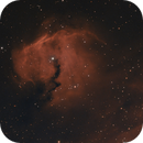 Sh2-292 in SHO - RGB: The T-Rex nebula (transforming into a Seagull in wide field view),                                Uwe Deutermann