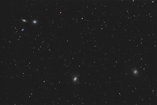 Trio of Messier galaxies in Leo,                                OrionRider