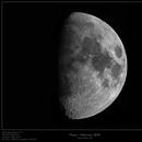 Moon February 2018 - Waxing Gibbous - 63%,                    Frank Schmitz