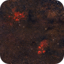 NGC 6334 Cat´  s Paw nebula and NGC 6357 the Lobster nebula,                                Riedl Rudolf
