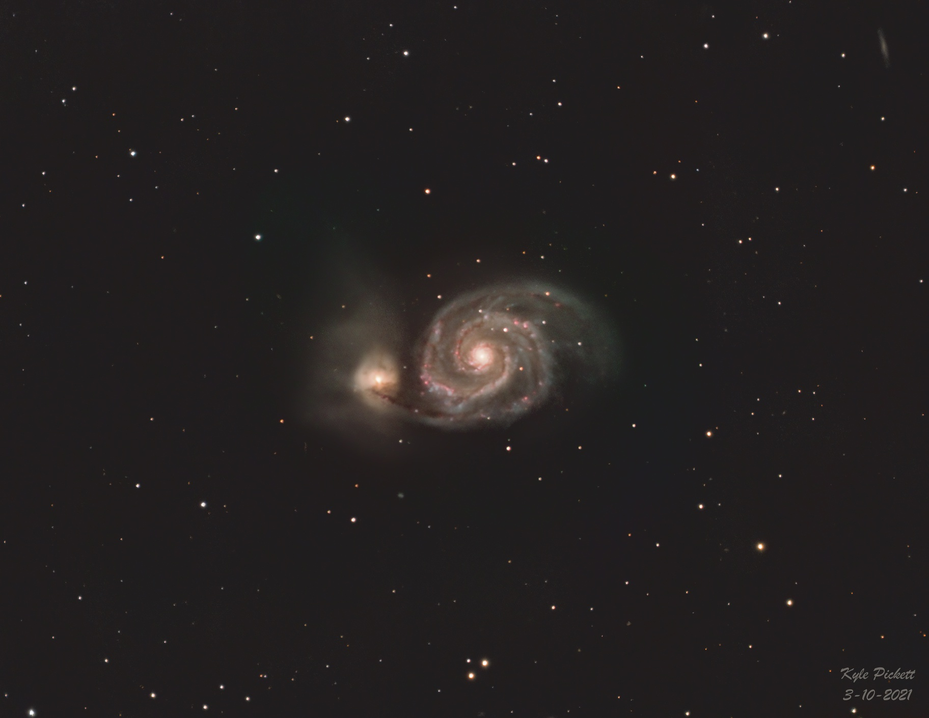 M51 - Whirlpool Galaxy,                                Kyle Pickett