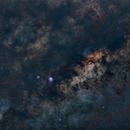 Milky Way, Lagoon and Triffid Nebula,                                Alberlan Barros