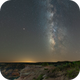 Milky Way in Palo Duro Canyon,                                Phil Montgomery