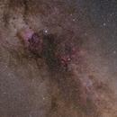 Milky Way Widefield: Debeb - Sadr region and Veil Nebula,                                t-ara-fan