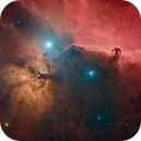 Flame and Horse Head nebulas,                                litobrit