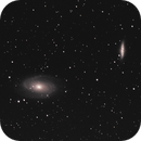 Bode's Galaxy and the Cigar Galaxy, M81, M82, from the City,                                psychwolf