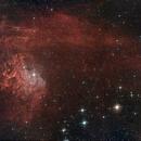 IC405 nébuleuse de l'étoile flamboyante,                                Jacques CROIZIERS