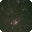Lagoon Nebula & Trifid Nebula,                                Stephen Borecky