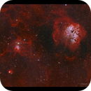 IC 410 and IC417 Tadpoles and Spider HaOiii,                                Göran Nilsson