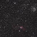M52 & Bubble Nebula - Autoguider Test,                                tphelan88