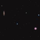M97 Owl planetary Nebula & M108 Surfboard galaxy,                                Marcin Kuś