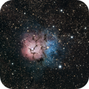 Trifid Nebula & M21,                                KiwiAstro