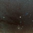 Rho Ophiucus visited by Mars and Saturn (Very wide field),                                Jocelyn Podmilsak