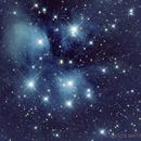 Messier 45 The Pleiades Open Cluster in Taurus,                                astrobillbinMontana