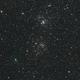 Comet 2017 T2 Panstarrs visits the Perseus Double Cluster,                                Elmiko