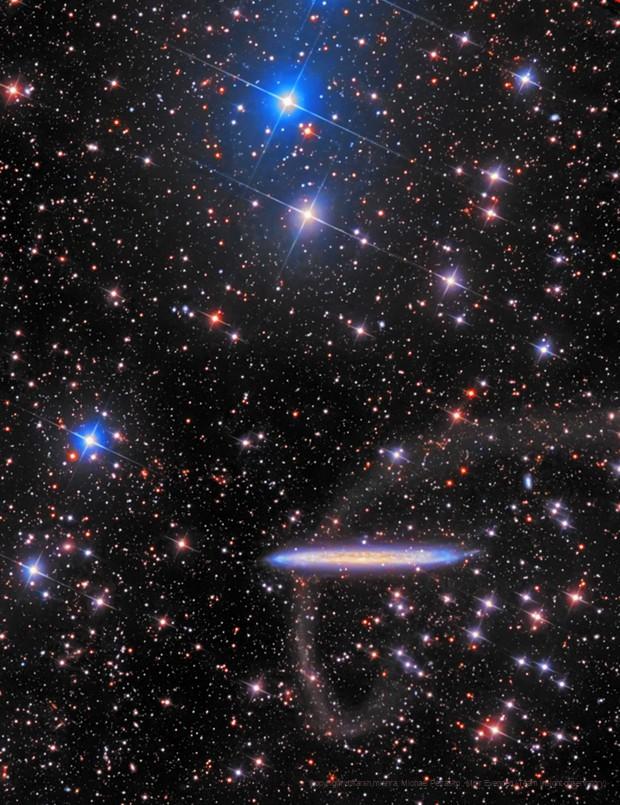NGC5907 with Tidal Stream,                                Utkarsh mishra