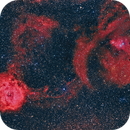 Cone and Rosette Nebulae,                                S. Stirling