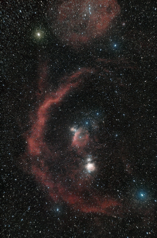Orion, Barnard´s Loop and others,                                UN73