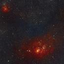Lagoon and Trifid nebula (M8 M20),                                IorekByrnisonBear