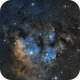 Sh 2-171, Berkeley 59, NGC 7822, & LDN 1271 in Cep OB4 - SHO Palette,                                Ara Jerahian